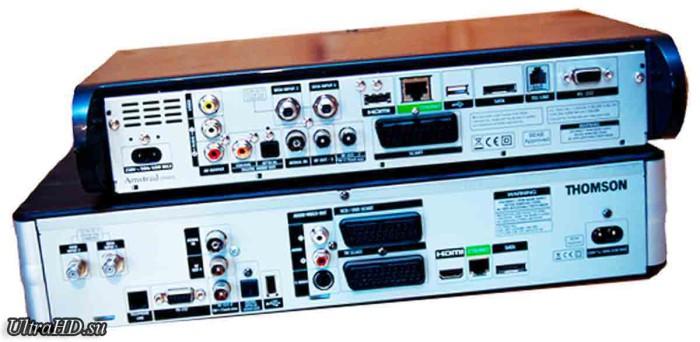 Приставка SkyQ 4K TV box. Задняя панель