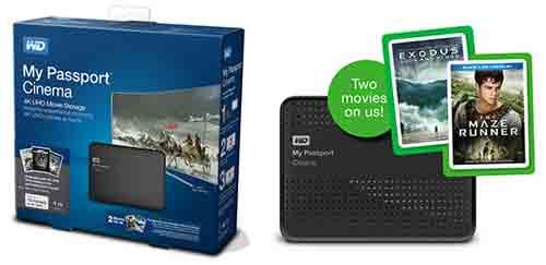 Western Digital Vidity — My Passport Cinema - внешнее устройство с USB 3.0 для хранения 4K контента