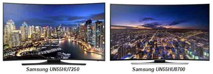 Телевизор Samsung UN55HU7250 vs Samsung UN55HU8700