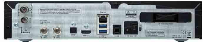 Спутниковый ресивер VU+ Solo 4K. Задняя панель
