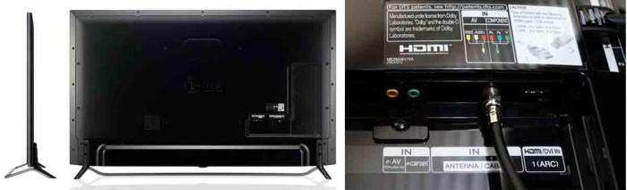 Телевизор LG 65UB9200. Коммутация