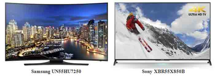 Samsung UN55HU7250 vs Sony XBR55X850B. Отличия и характеристики