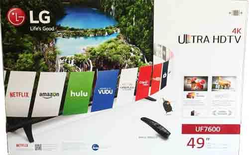 Телевизор LG 49UF7600. Упаковка