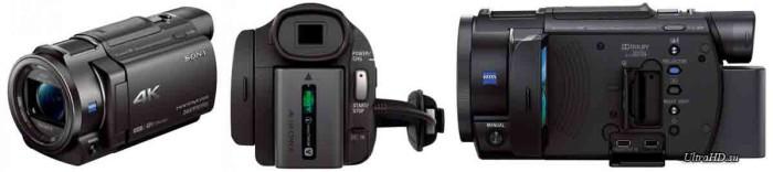 Видеокамера Sony FDR-AX33 - ракурсы