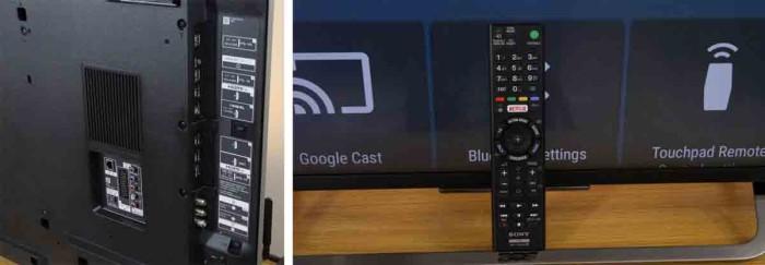 Sony KD-43X8305C - пульт и коммутация