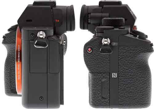 Фотакамера Sony A7S II и Sony A7R II боковые стороны