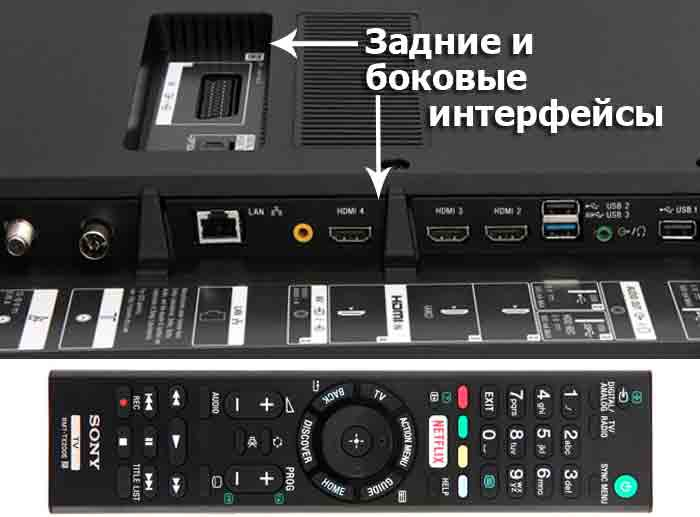 Sony 55XD7005 подключения