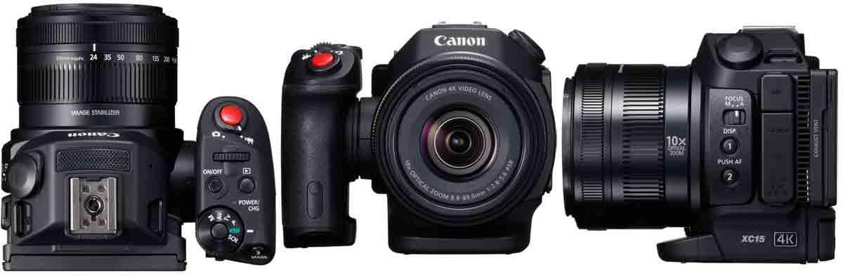 Canon XC15 объектив и ракурсы