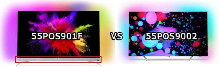 Самое большое отличие 55POS9001 OLED от 55POS9002 OLED - в последнем телевизоре не используется саундбар