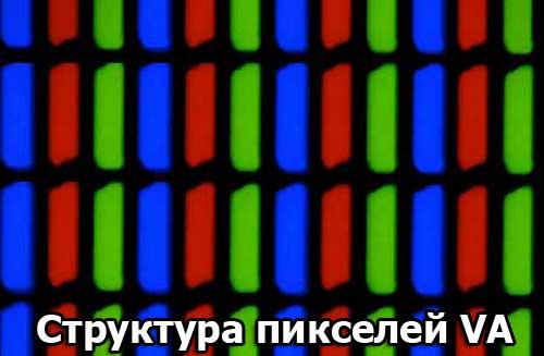 Типичная структура пикселей VA