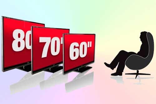 С какого расстояния смотреть телевизор 4K