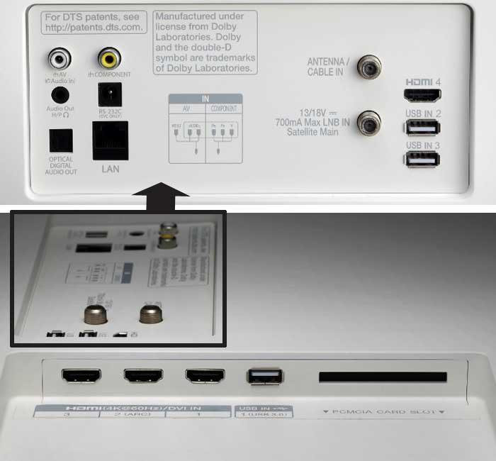 LG 55SJ950V интерфейсы