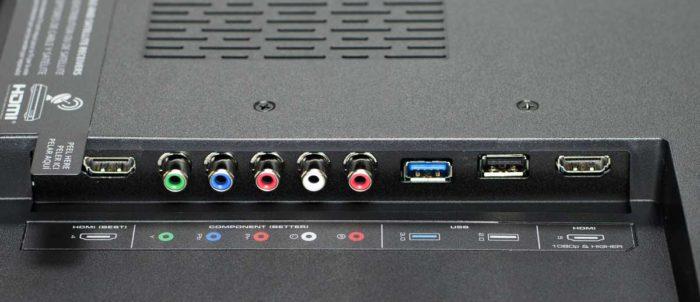 Vizio P-E1 интерфейсы