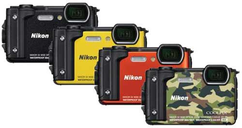 Nikon Coolpix W300 цвета моделей