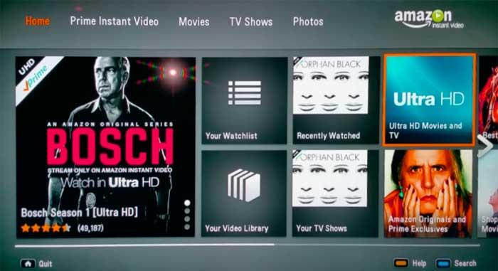 Просмотр 4К видео на Amazon Prime