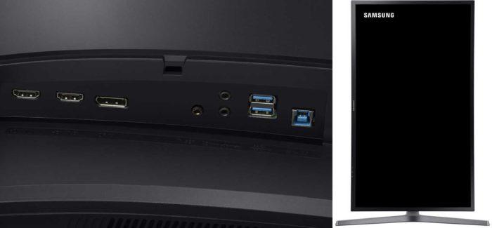 Samsung CHG70 интерфейсы