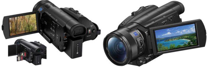 Sony FDR-AX700 дисплей
