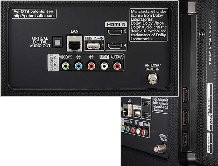 LG UJ740V подключения