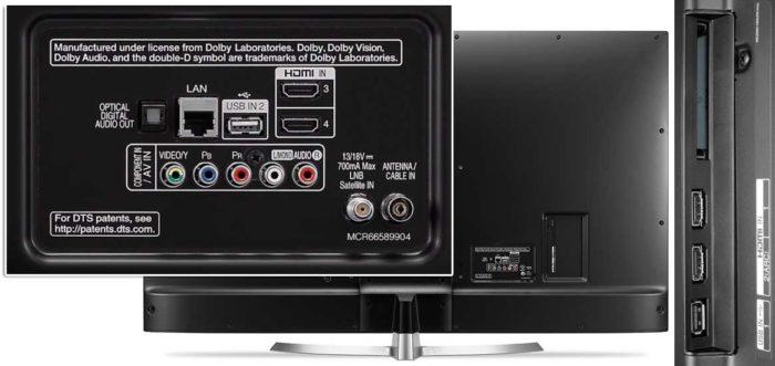 LG UJ655V интерфейсы