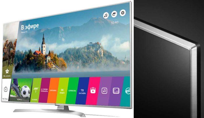 LG UJ655V Смарт ТВ