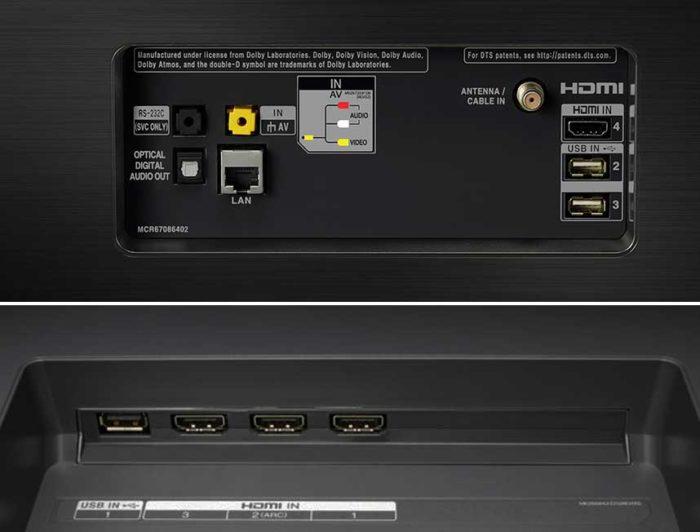 LG E8V интерфейсы