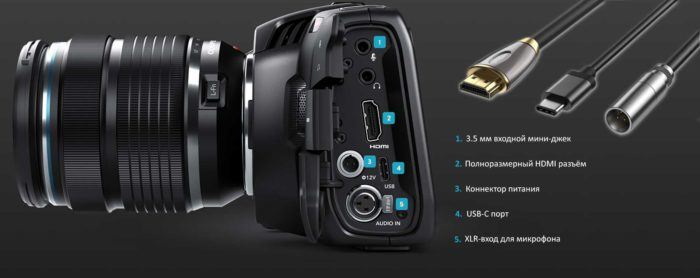 Blackmagic Design Pocket Cinema Camera 4K разъемы