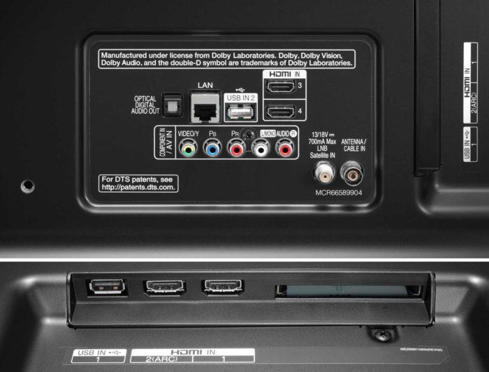 LG UK7550 интерфейсы
