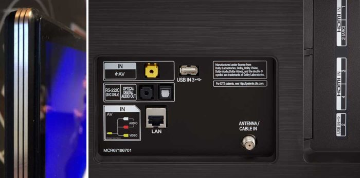 LG SK9500 интерфейсы