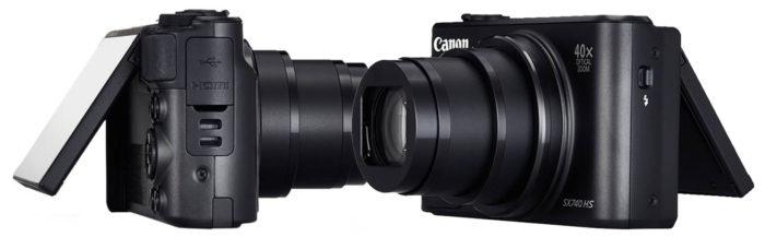 Canon PowerShot SX740 HS 4K интерфейсы