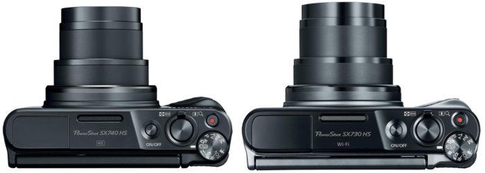 в чём разница между Canon SX740 и SX730