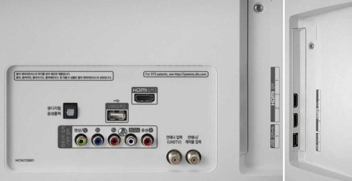LG UK6390 интерфейсы