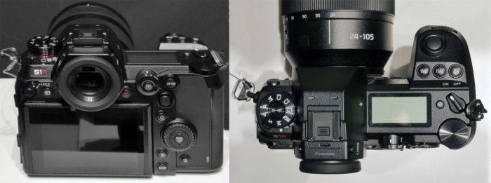 Panasonic Lumix S1R видоискатель и управление