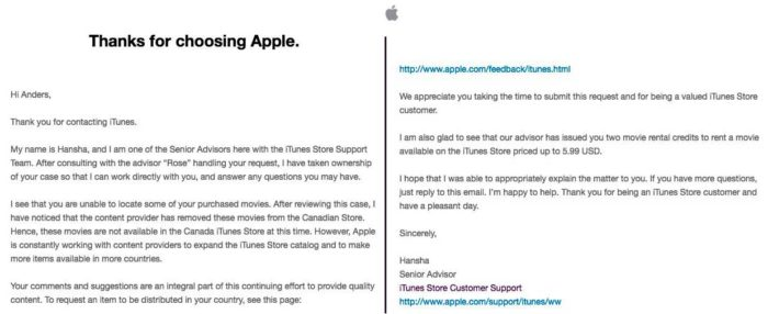 На iTunes Store фильмы 4K могут удалить или заменить на HD