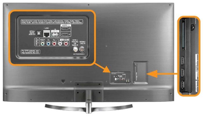 LG UK7500 интерфейсы