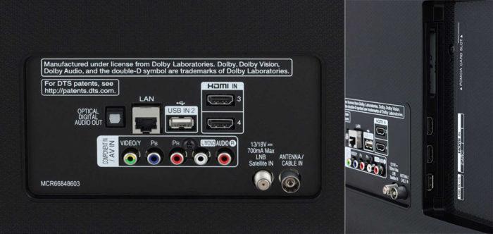 LG UK6710 интерфейсы