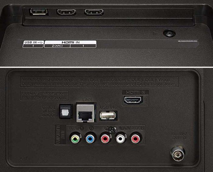 LG UK6400 интерфейсы