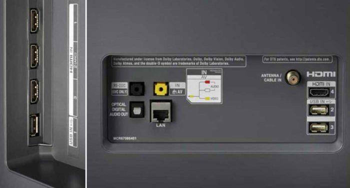 LG OLED55B8 интерфейсы