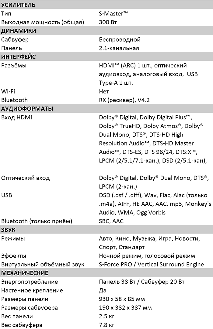 Характеристики XF9000