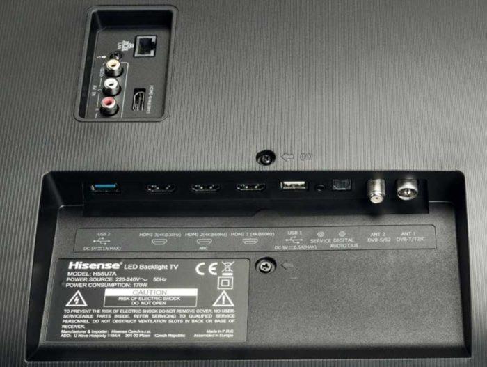 Hisense H55U7A ULED 4K интерфейсы