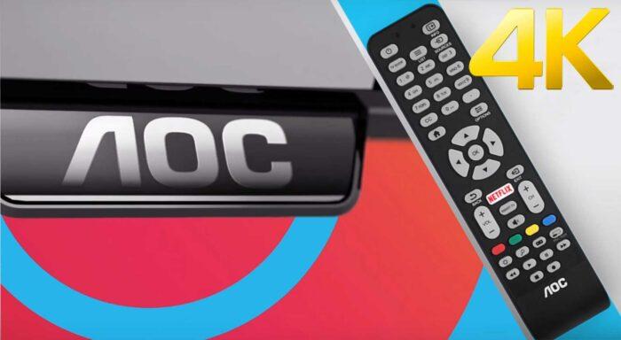 AOC 55U608 4K TV дизайн