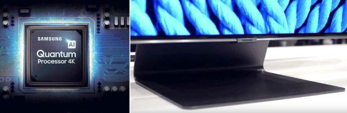 Samsung Q90R подставка, процессор