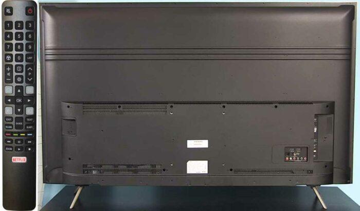TCL U55P6046 пульт, задняя панель
