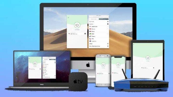 VPN устанавливается на смартфоны, компьютеры, IoT-устройства и кодирует положение