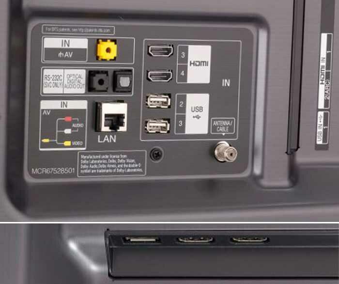 LG 55SM8200PLA интерфейсы