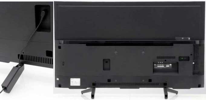 Sony KD-55XG7005 тыловая панель