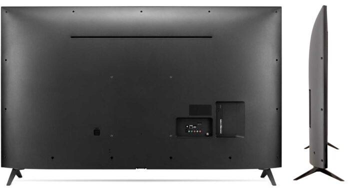 LG 55UM7300 задняя панель