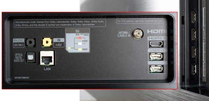 LG OLED55E9 интерфейсы