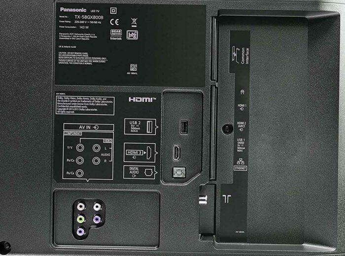 Panasonic TX-50GXRR800 интерфейсы