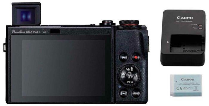 Canon PowerShot G5X Mark II экран и питание