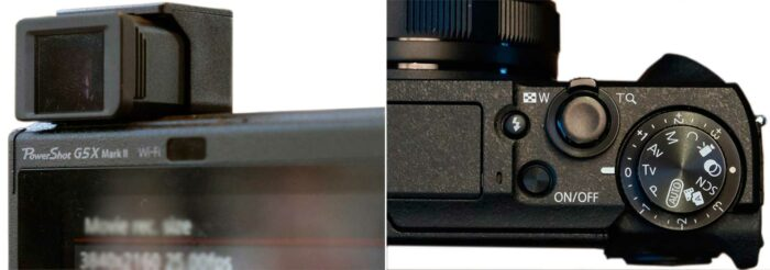Canon PowerShot G5X Mark II дисплей